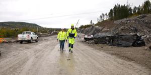 Ulrika Sundgren, projektledare på Trafikverket, och Jan Persson, projektchef NCC, håller på att bygga om E14.