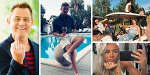 Så kopplade Gävlekändisarna av sommaren 2019. Bild: Kollage/Skärmdump från instagram.com.