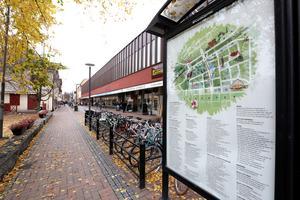 En del av Borlänge centrum.