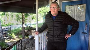 Bengt Jansson säger att han var mer orolig vid den stora skogsbranden 2014.