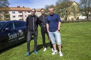 Mattias Sundberg, Mikael Sundberg och Marcus Wågström hoppas att appen underlättar för besökarna att hitta rätt på området.