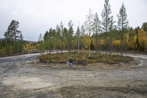 Rondellen kommer att underlätta träningen för både rullskidåkare, skidåkare och pistmaskiner.