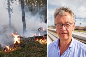 Per-Olof Wedin, vd för Sveaskog, på plats i Ljusdals kommun. Foto: Arkiv / Erik Strömberg