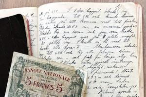 För bara några år sedan hittade familjen Rolf Frankssons dagböcker från olympiska spelen i Antwerpen 1920. Foto: Ulf Ivar Nilsson