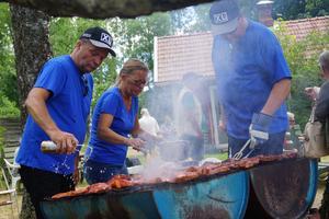 Grillfest hör till Järle marknad, här från förra året. Arkivbild: Anna Mendelsson