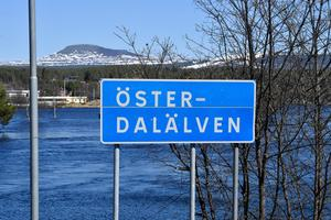 Österdalälven börjar där Storån och Sörälven mötts vid Idresjöns norra del.
