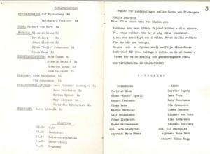 Tävlingsledning och huvudansvariga i den allra första Krampen 1973. Notera att Christer Blom själv ingick i Risbergskas roddlag.