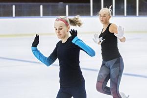 Klara Myhrberg och Lina Silvroth  från Bollnäs är så kallade A-åkare.