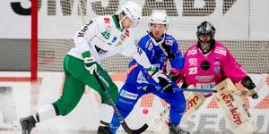 Christoffer Fagerström satte två drömmål och missade en straff mot Vänersborg. Bild: Adam Ihse / TT