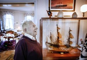 Ett stort intresse för sjöliv har alltid funnits hos Sigvard Marjasin, och i ungdomen jobbade han en period som sjöman.