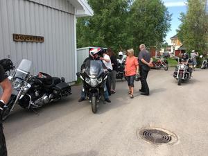 Det var även en och annan som ville åka tysk motorcykel.