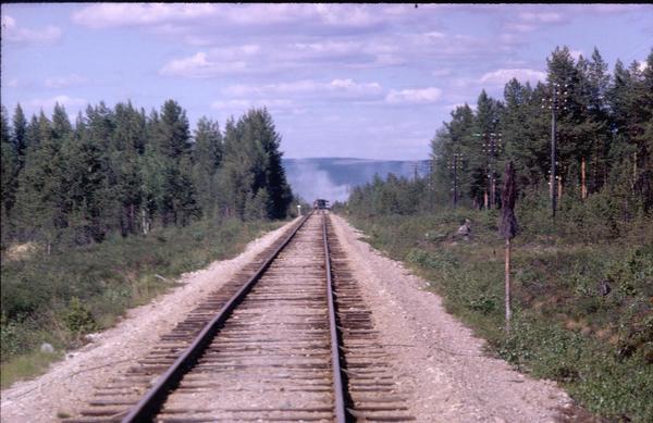 Hedebanan var en tågförbindelse mellan Sveg och Hede som invigdes 1924 och som transporterade både gods- och persontåg. Hedebanan avvecklades 1966, på initiativ av dåvarande kommunikationsminister Olof Palme.Foto: Bertil Sandström.