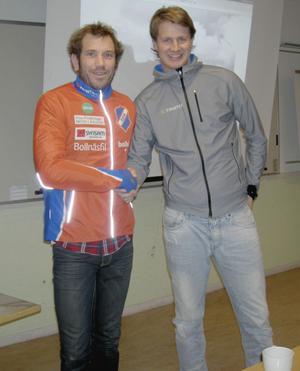 Pär Olofsson, Rehns BK, välkomnar skidprofilen Niclas Bärj i klubbens nya skidsatsning.