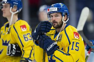 Simon Bertilsson tvingas tacka nej till spel med Tre Kronor denna vecka. Foto: Bildbyrån