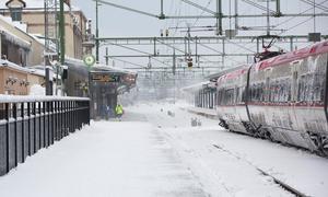 Järnvägsstationen i Gävle. Arkivbild.