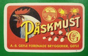 En etikett från Gävle förenade bryggerier vittnar om att det tillverkades must i Gävle även innan de blev Bockens bryggeri 1959. Däremot är det oklart om det här var drycken med banansmak.