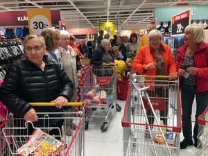 Eivor Heens från Äppelbo fyllde nyligen  jämna år och hade blivit bjuden av sina väninnor till öppningsfesten i Malung.