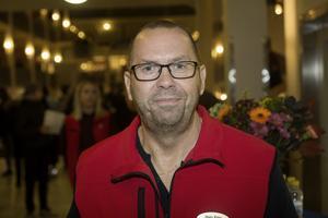 Mats Ring, studie- och yrkesvägledare på Polhemsskolan, svarade på frågor under kvällen.