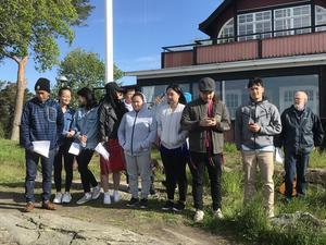 En grupp från Baptistförsamlingen sjöng. Läsarbild: Maj Anita Persson.