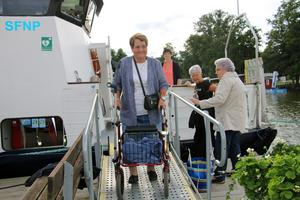 En av de som åkte med på resan med M/S Wettervik på onsdagen var Elisabeth Åhlund.