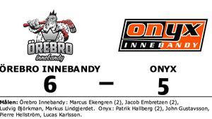 Örebro Innebandy avgjorde i förlängningen mot Onyx