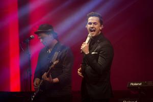 David Lindgren underhöll gästerna på julshowen i Härnösand arena.