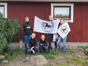Hela ponnylaget på lag-SM i fälttävlan. Foto: Privat
