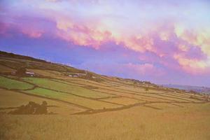 Bland Yorkshires hedar  och fält lekte barnen Brontë. Miljön återkommer i flera av systrarnas böcker. Bild av Simon Warner ur