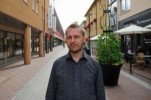 Nanok Stagnell, ordförande i KFUM Borlänge. Han hoppas att föreningen ska hålla igång som vanligt under hösten.