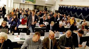 Kommunfullmäktige i Lindesberg 12 december 2018 i Storåskolans matsal.