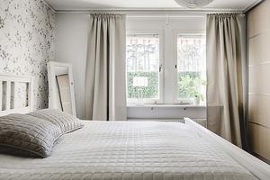 Ett av fyra sovrum. Foto: Ralph Welin