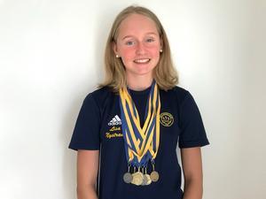 Många medaljer blev det för Lisa Nystrand under Svenska ungdomsmästerskapet i Norrköping härom helgen.