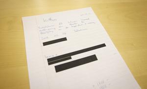 Det här är det enda kvittot som finns bokfört från skrotförsäljningen, enligt uppgifter från Faxeholmen. Vi har valt att anonymisera namnen på köpare och säljande chef.