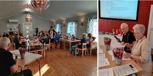 Björna socken Hembygdsförening hade årsmöte, ledd av Bengt Strandberg och Lena Westin. Foto: