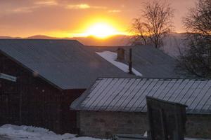 Kallt i Ytterberg en vinterkväll.