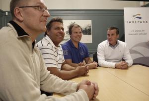 Kent Palm, Leif Öberg, Lennart Wikström och Johan Bengtsson har som företagare nytta av varandra och kursen.