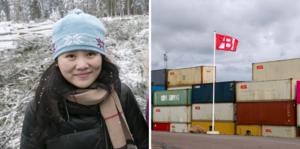 Wendy Zhu jobbar hemma med barnen när Bergkvist kontor i Shanghai är igenbommat. Och i Insjön är det brist på containrar.