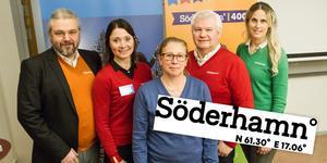 Montage. Men en ny webbplats och en ny platslogotyp ska Söderhamn marknadsföras i hopp om att locka fler invånare.