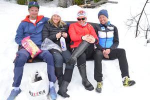 Oskar Kardin, Frida Hallquist, Ida Ingemarsdotter och Astrid Øre Slind tog det lugnt efter att kommit i mål som etta, femma, tvåa och trea.