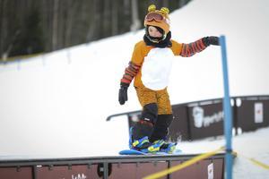 Man behöver inte vara stor för att tävla i slopestyle.