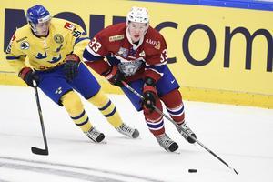 Nicolai Bryhnisveen är van att spela i rött för sitt Norge. Den kommer att varvas med Timrå framöver.
