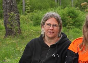 Gunilla Lundin från Norrtälje kommun trivs med sitt uppdrag som samordnare över sommarlovsfirandet. Foto: Bernt Josephsson