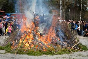 Elda bara organiskt material.