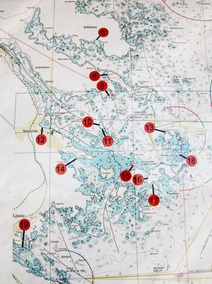 Det finns 23 gästhamnar och gästbryggor i Söderhamns skärgård.