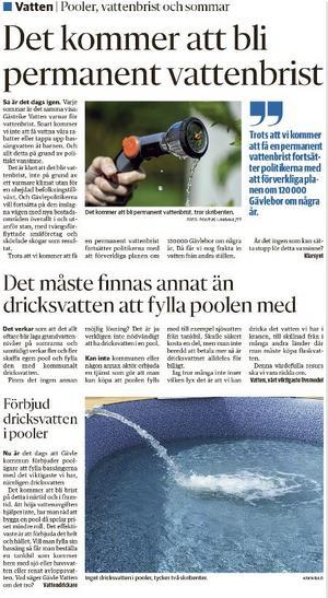 Från GD:s insändarsida den 27/6.