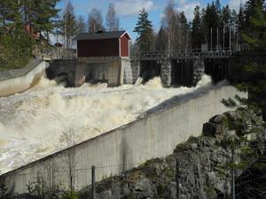 Vid Borgärdets kraftstation i Svärdsjö passerade vid torsdag lunch  78 kubikmeter vatten i sekunden. En notering som enligt flödesprognoser kommer öka de närmaste dagarna.