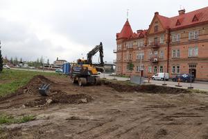 De första gräv- och markjobben för nya Vasaparken har inletts den här veckan. De börjar där huvudentrén för karten ska ligga.