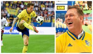 Pontus Kåmark tycker att mittbacksparet kompletterar varandra perfekt. Kåmark har haft stenkoll på Vigge under VM.Bilder: TT