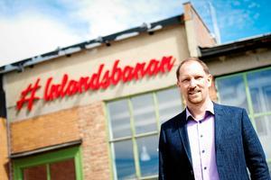 Peter Ekholm, vd Inlandsbanan, mottog under måndagen utmärkelsen Årets samhällsbyggare.Bild: Emma Simonsson / Arkiv