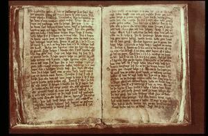 Codex Regius från 270-talet innehåller eddadikterna. Foto: Okänd